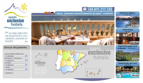 Central de reservas online. Spain Exclusive Hotels